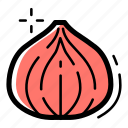 cooking, food, healthy, kitchen, onion, organic, vegetable icon