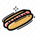 beef, dog, fast, food, hot, meat, sausage icon