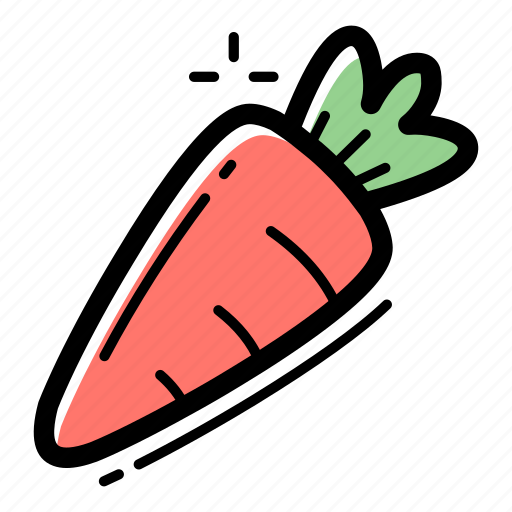 carrot, farming, food, healthy, salad, vegetable, vegetarian icon