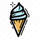 cold, cone, cream, dessert, food, ice cream, sweet icon