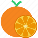 citrus, fruit, healthy, orange, tropical, vegan, vitamin c icon