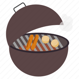 barbecue, barbeque, fry, grill, kitchen, potato, smoke icon