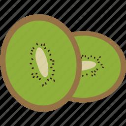 food, fresh, fruit, healthy, kiwi, vegan, vitamin c icon