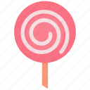 candy, dessert, lollipop, lolly, pop, sugar, sweet icon