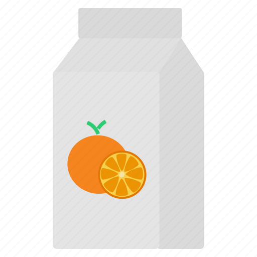 beverage, carton, fruit, juice, orange, packaged, pulp icon
