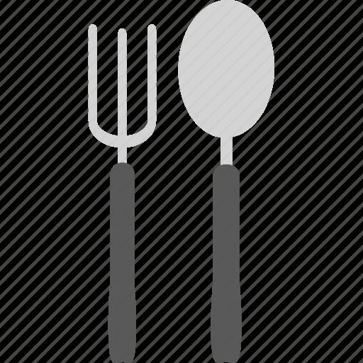 cutlery, dinner, eat, fork, kitchen, restaurant, spoon icon