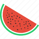 fruit, juicy, melon, tropical, vegan, vegetable, watermelon icon