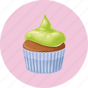 birthday, cupcake, dessert, muffin icon