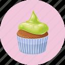 birthday, cupcake, dessert, muffin