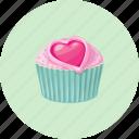 birthday, cupcake, dessert, muffin, love