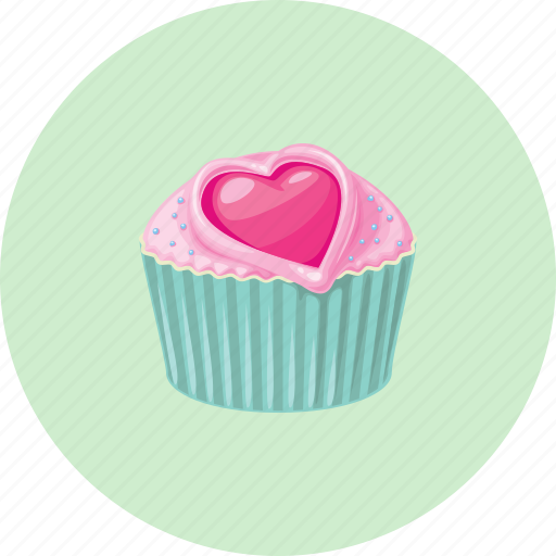 birthday, cupcake, dessert, love, muffin icon
