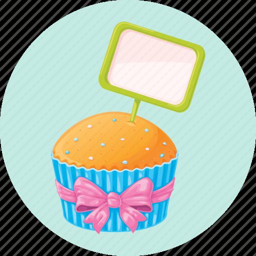 birthday, cupcake, dessert, muffin icon