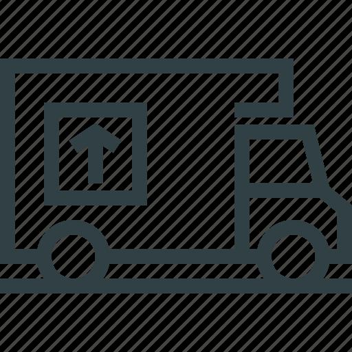 cargo, delivery, logistics, truck, van icon
