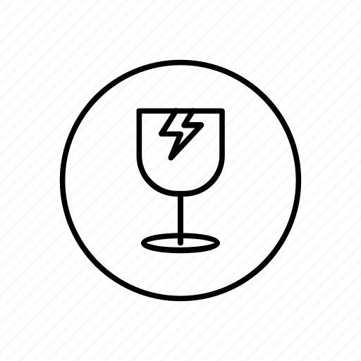 broke, broken glass, delivery, glass, shipping icon
