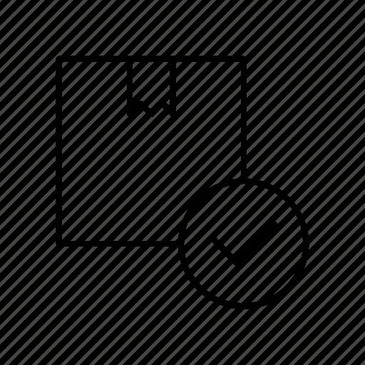 box, check, checklist, delivery icon