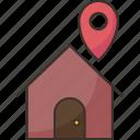 address, delivery, location, house, destination