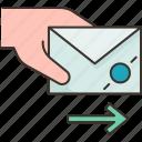 messenger, mail, letter, send, communication