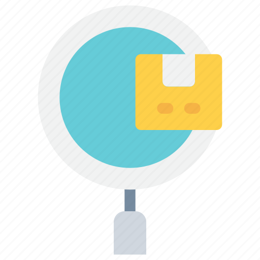 box, business, delivery, package, search, track icon