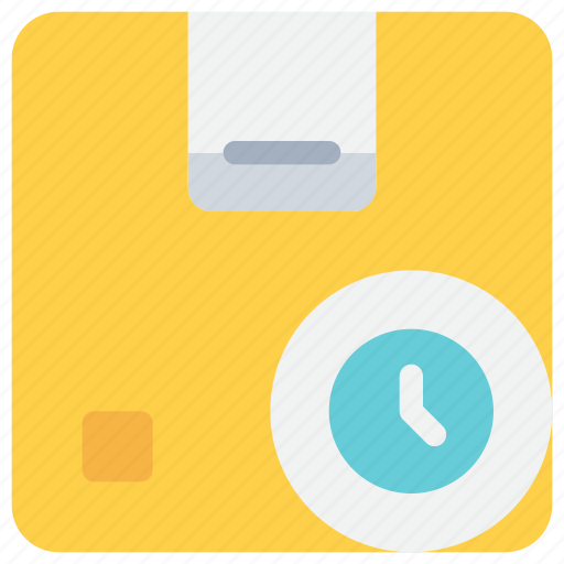 box, delivery, logistics, management, package, product, time icon