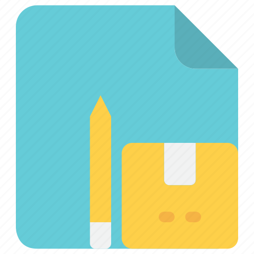 box, check, delivery, document, file, logistics, package icon