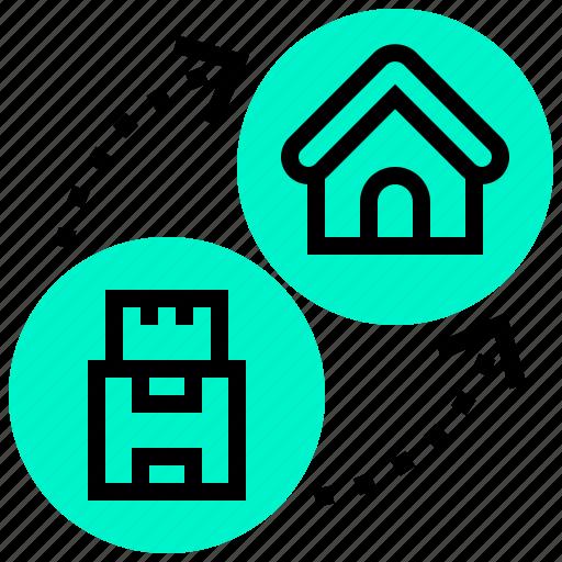 delivery, home, parcel, send, service icon