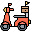 bike, courier, delivery, free, shipping icon