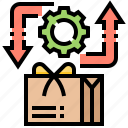 back, give, parcel, return, service icon