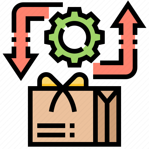 back, give, parcel, return, service icon