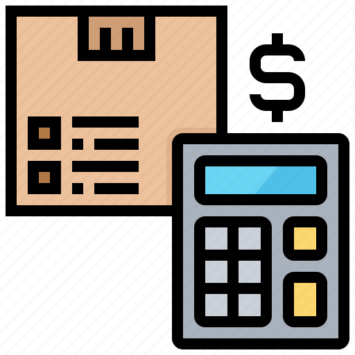 calculator, cost, payment, rates, shipping icon
