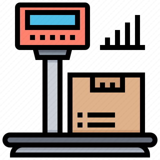 apparatus, scale, shipping, supply, weight icon