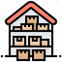 depository, factory, repository, storehouse, warehouse icon