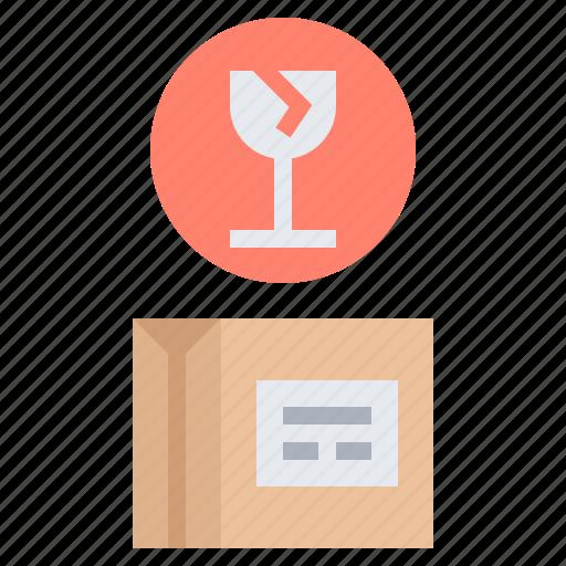 Delicate, delivery, fragile, frail, parcel icon - Download on Iconfinder