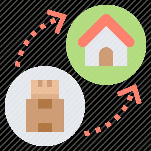 Delivery, home, parcel, send, service icon - Download on Iconfinder