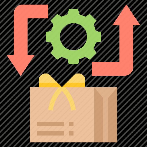 Back, give, parcel, return, service icon - Download on Iconfinder