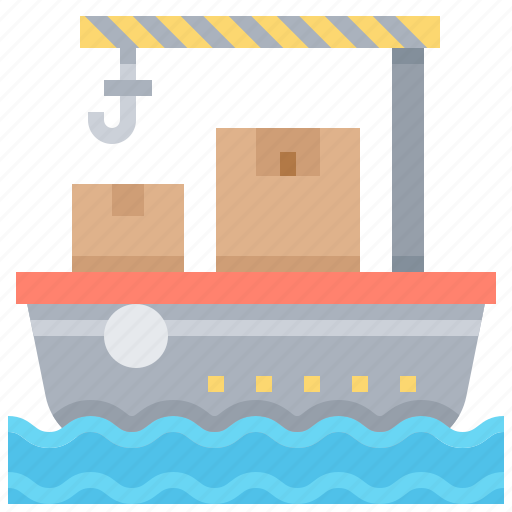 Delivery, freighter, sea, ship, transport icon - Download on Iconfinder