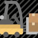 car, delivery, forklift, logistics, transport, transportation, vehicle icon
