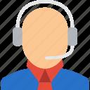 male, man, operator, people, person, receptionis icon