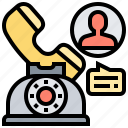 consult, custom, help, phone, service icon