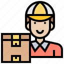 courier, deliveryman, mailman, package, postman icon