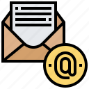 communication, email, internet, letter, online icon