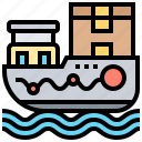 boat, cargo, container, shipping, transportation