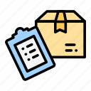 box, checking, delivery, logistic, verifying icon