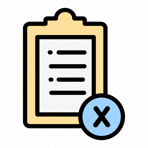 Checking, delivery, logistic, cancel, cehecklist icon - Download on Iconfinder