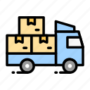 delivering, delivery, logistic, truck, vehicle icon