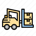 delivery, forklift, logistic, logistics, moving icon