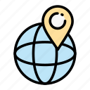 delivery, location, logistic, map, marker, pin icon