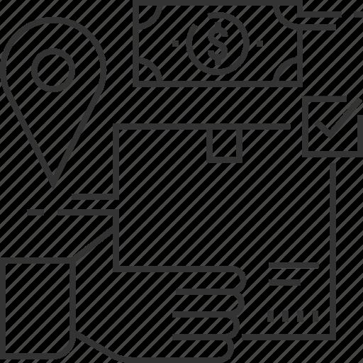 bill, delivery, logistic, money, service icon