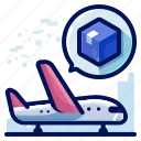 aeroplane, airplane, delivery, shipment, shipping, transport icon