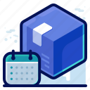 date, delivery, schedule, shipment, shipping icon