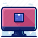 computer, delivery, shipment, shipping, track icon